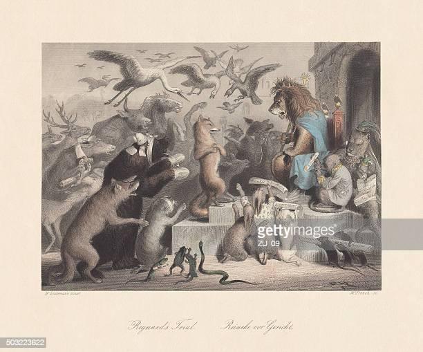 "Reynard's Trial. Scene from ""Reynard the Fox"", published c. 1855"