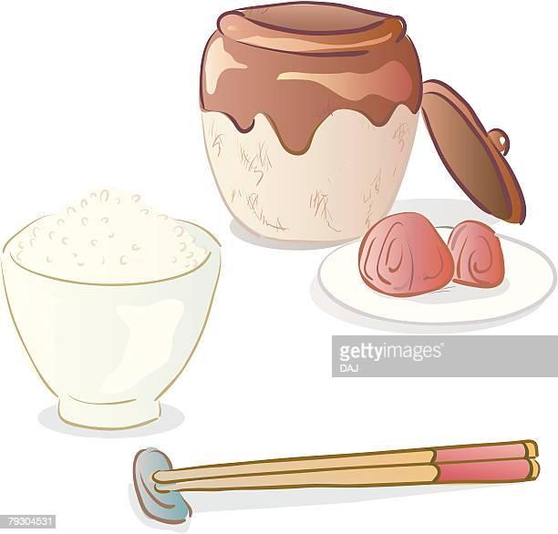 Rice and umeboshis