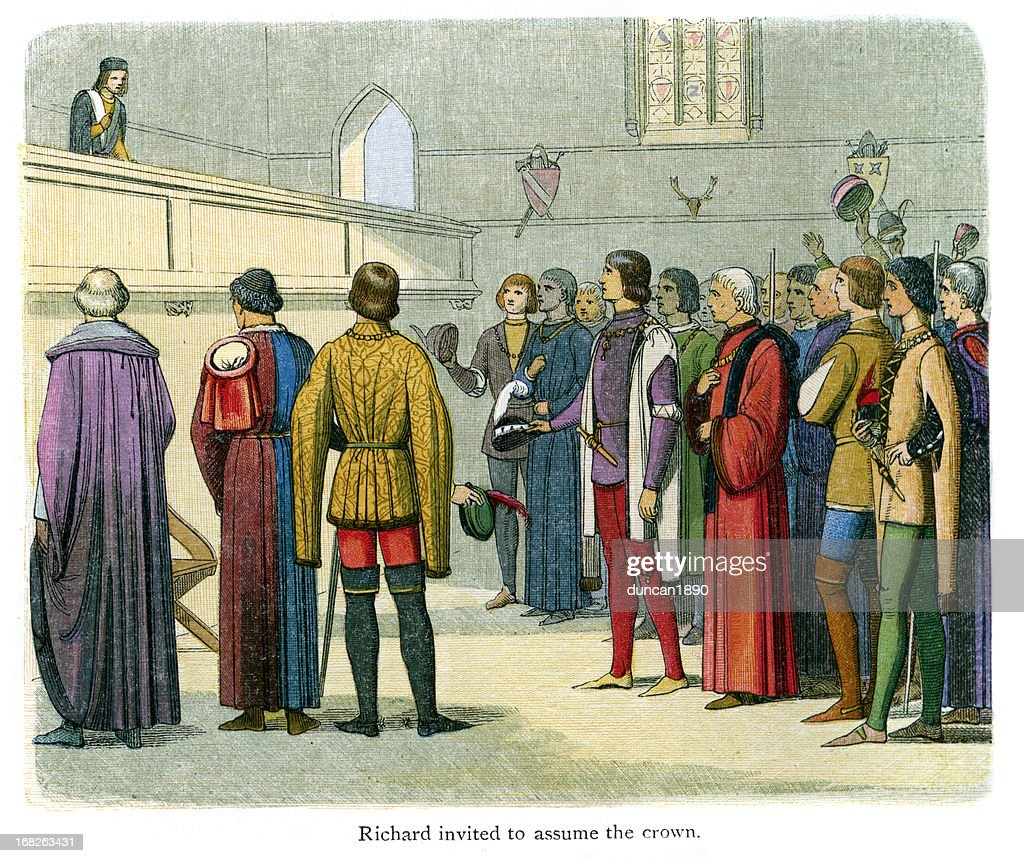 Richard II invited to assume the crown : stock illustration