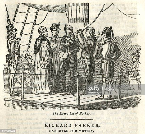 richard parker, executed for mutiny - infamous stock illustrations, clip art, cartoons, & icons