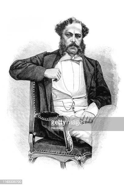richard von metternich, was an austrian diplomat and the eldest surviving son of the diplomat klemens, prince of metternich-winneburg zu beilstein - ambassador stock illustrations