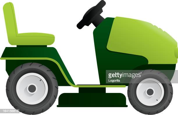 fahrt auf lawnmower - gewerbegebiet stock-grafiken, -clipart, -cartoons und -symbole
