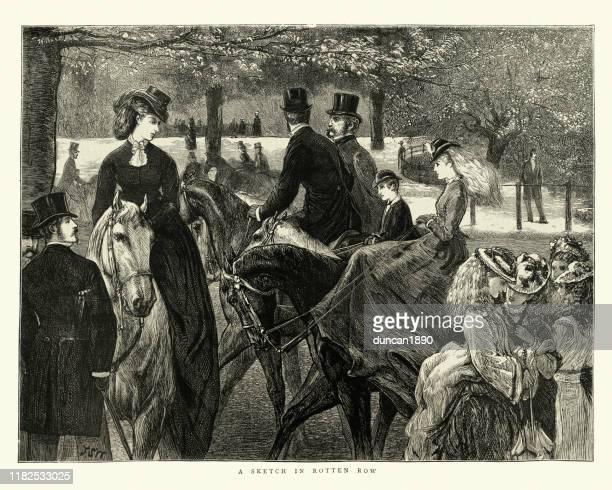 腐った列に乗って、ハイドパーク、1872年、ビクトリア朝、19世紀 - セントラル・ロンドン点のイラスト素材/クリップアート素材/マンガ素材/アイコン素材