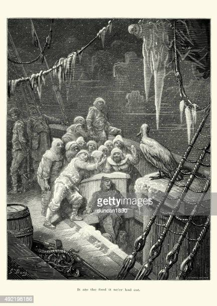 rime of the ancient mariner - infamous stock illustrations, clip art, cartoons, & icons