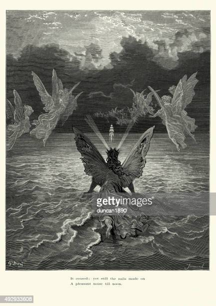 rime of the ancient mariner - sails made on - ancient stock illustrations, clip art, cartoons, & icons