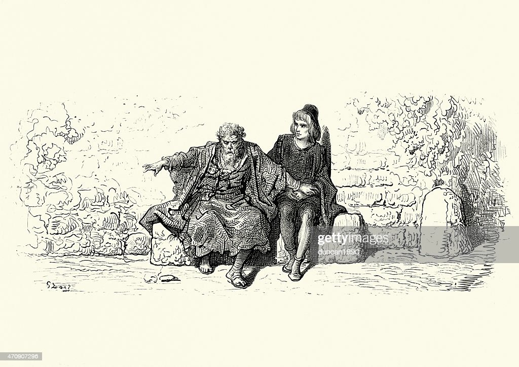 Rime of the Ancient Mariner - Telling his Story : stock illustration