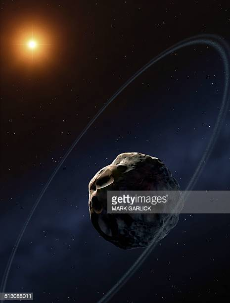 Ringed asteroid Chariklo, artwork