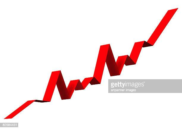 rising chart of shares or an index - {{asset.href}} stock illustrations