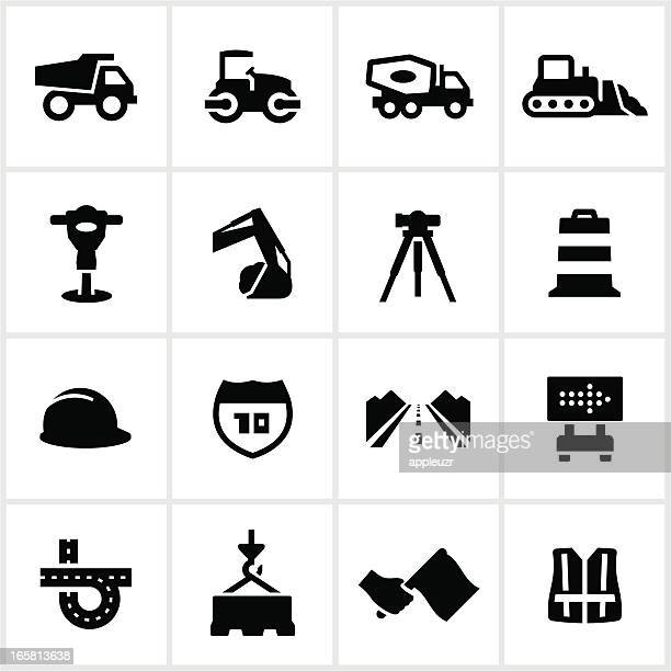 road construction icons - safety equipment stock illustrations, clip art, cartoons, & icons
