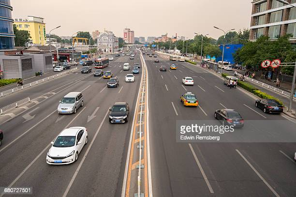road in beijing - road marking stock illustrations