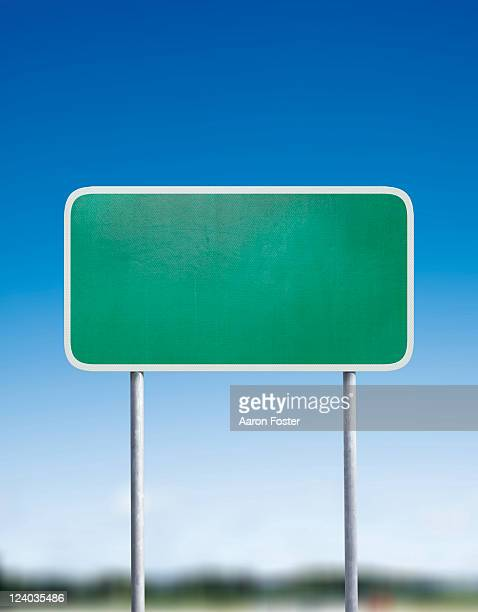 road sign - front view stock illustrations