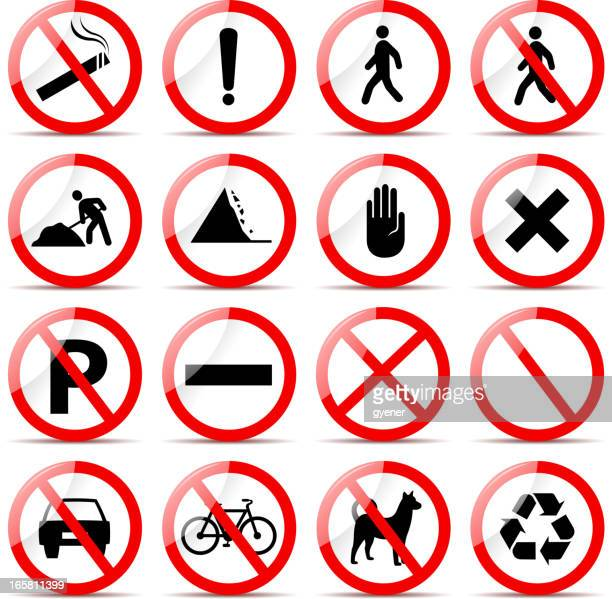 road sign - quitting smoking stock illustrations, clip art, cartoons, & icons