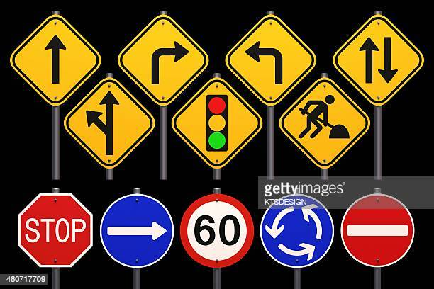 road signs, artwork - road sign stock illustrations, clip art, cartoons, & icons