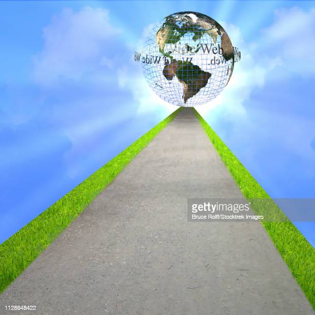 Road to Globe with writing world wide web