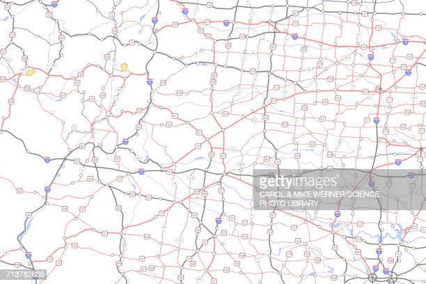 roadmap, illustration - road stock illustrations
