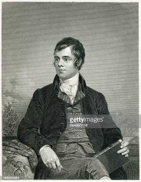 robert burns - one young man only stock illustrations