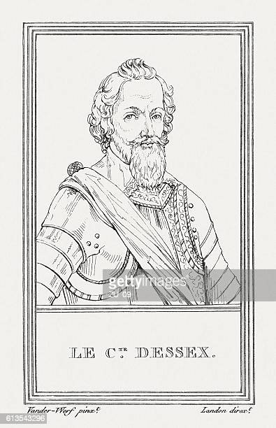 robert devereux (1565-1601), 2nd earl of essex, published in 1805 - governmental occupation stock illustrations, clip art, cartoons, & icons