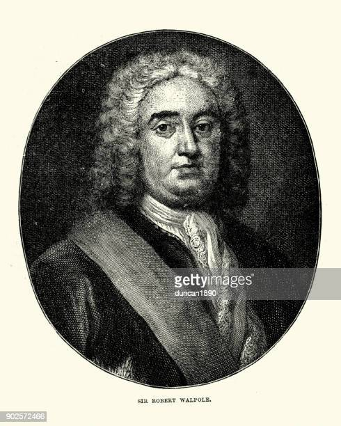 robert walpole - governmental occupation stock illustrations, clip art, cartoons, & icons