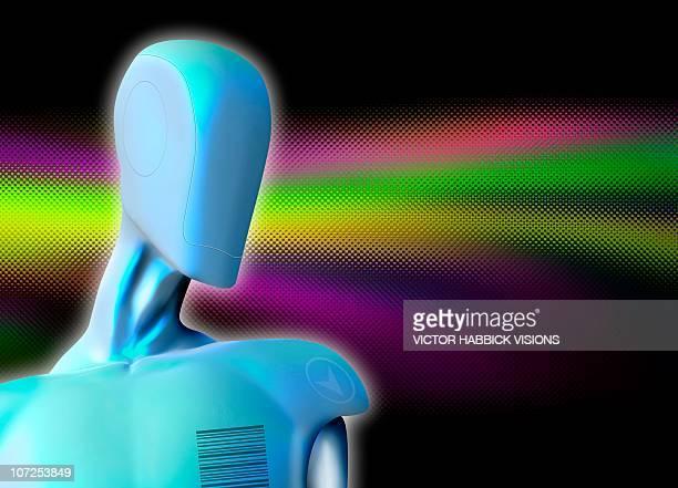 robot, artwork - victor habbick stock illustrations
