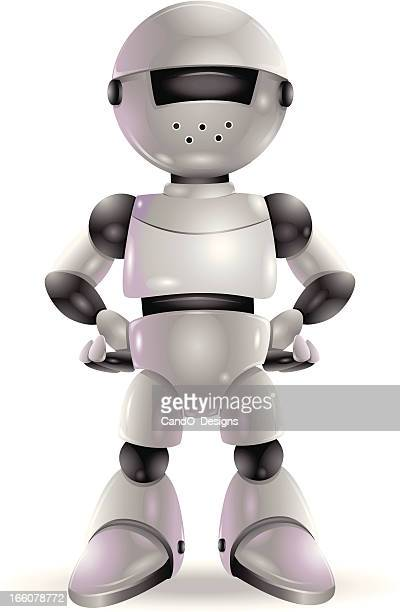 robot: brave & proud - cyborg stock illustrations, clip art, cartoons, & icons