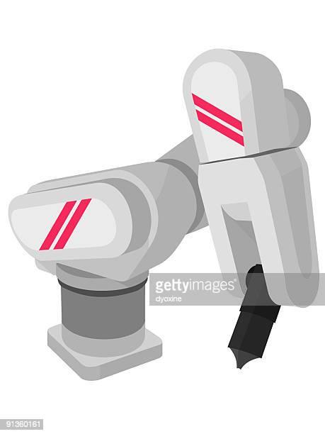 ロボット - 機械アーム点のイラスト素材/クリップアート素材/マンガ素材/アイコン素材