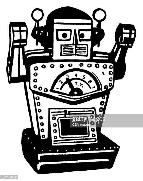 illustrations, cliparts, dessins animés et icônes de robot - impatient