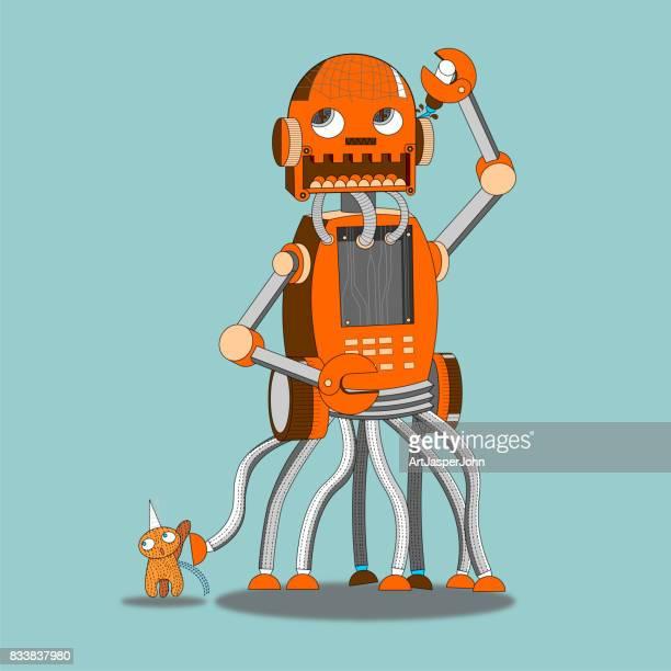 Robot walk a pet