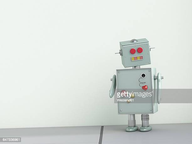 robot with lovesickness, 3d rendering - robot stock illustrations