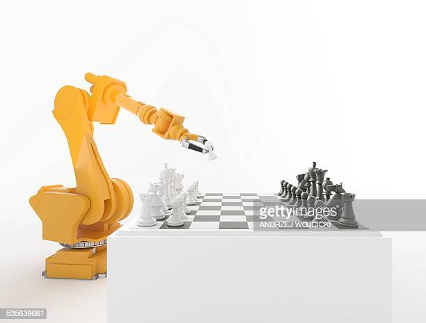 Robotic arm playing chess, artwork