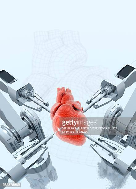 Robotic arms making a heart, illustration