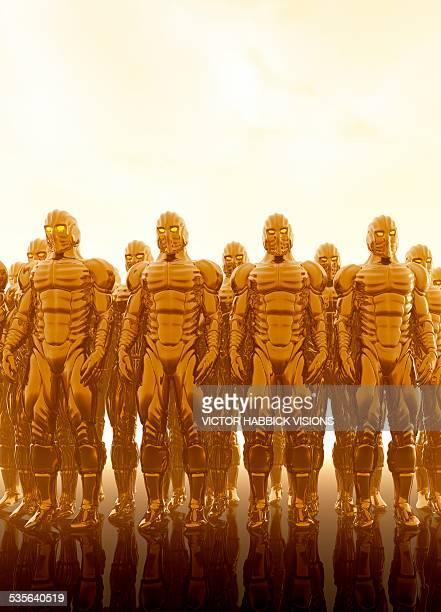 Robotic army, artwork
