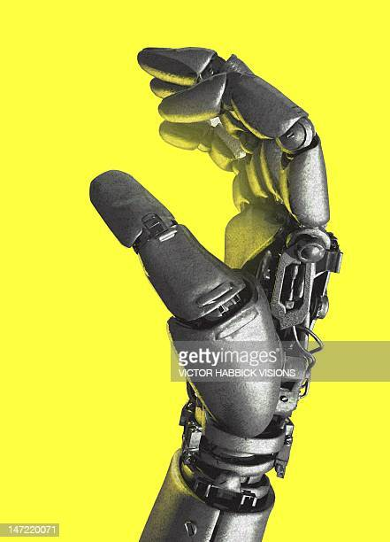 robotic hand, artwork - robot stock illustrations