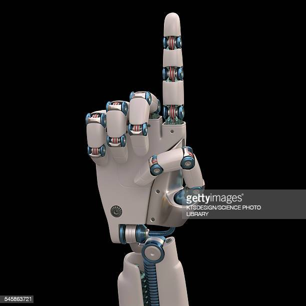 robotic hand, illustration - robot stock illustrations