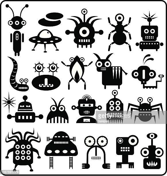 Robots, monsters, aliens.