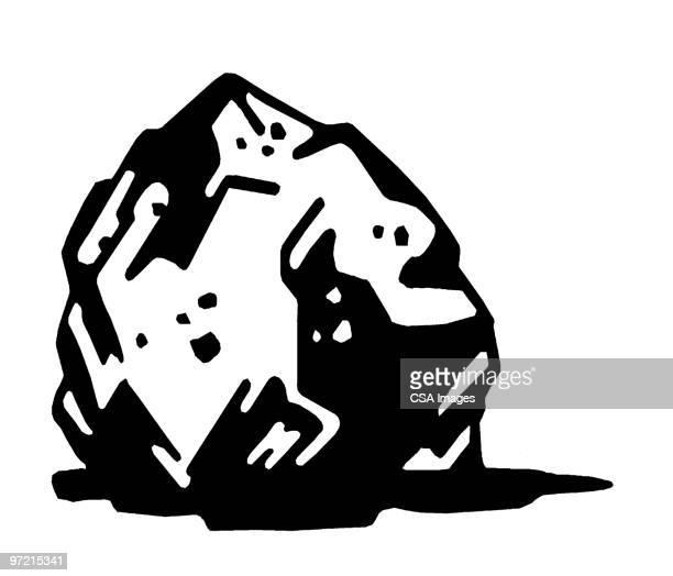rock - boulder rock stock illustrations, clip art, cartoons, & icons