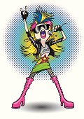 Rock star teen girl character