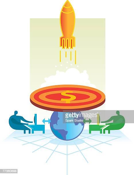 38 Rocket Launch Pad Stock Illustrations, Clip art, Cartoons & Icons