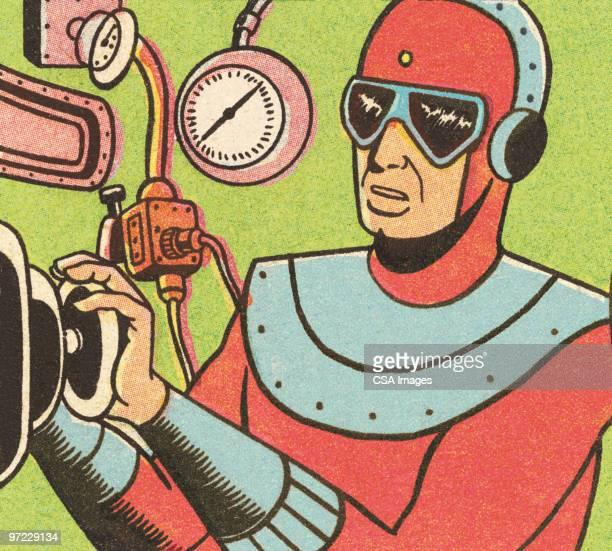 illustrazioni stock, clip art, cartoni animati e icone di tendenza di rocketman - fumetto creazione artistica