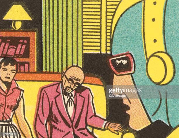 rocketman interrupts - heroes stock illustrations