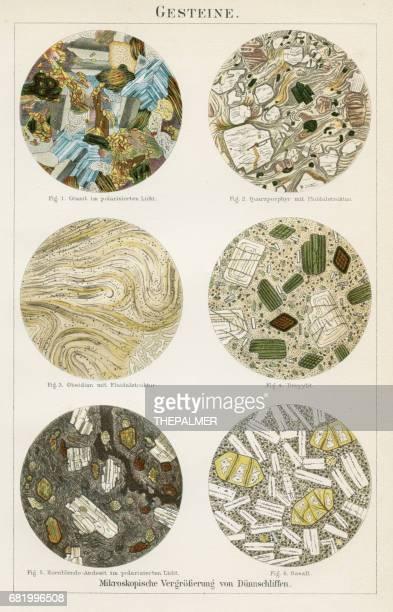 rocks stones lithograph 1895 - basalt stock illustrations, clip art, cartoons, & icons