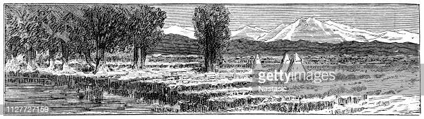 rocky mountain ,national park - connecticut river stock illustrations, clip art, cartoons, & icons