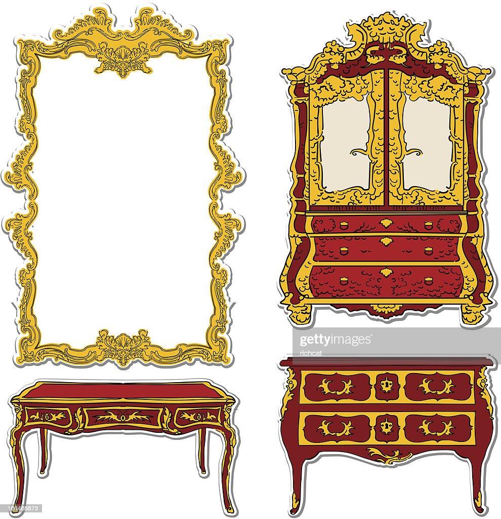 rococo furniture stickers