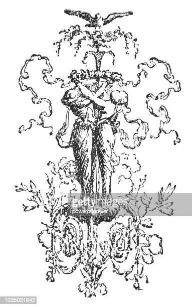 Rococo Style Decorative Ornament Design