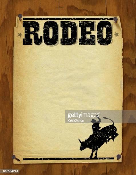 ilustrações de stock, clip art, desenhos animados e ícones de rodeio poster retro-fundo - rodeio