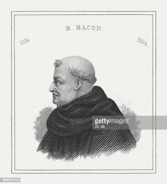 Roger Bacon (c.1214-c.1292), English philosopher, steel engraving, published in 1843