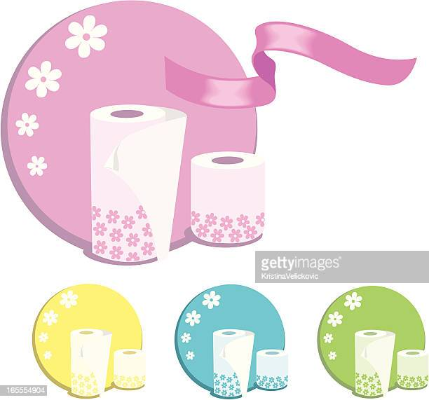 roll paper - paper towel stock illustrations, clip art, cartoons, & icons