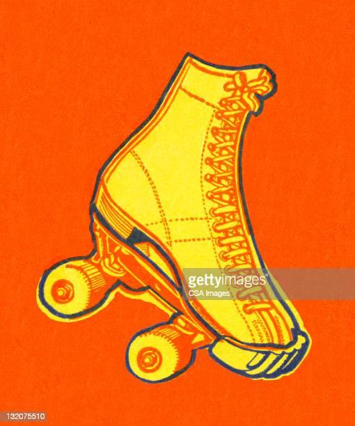 roller skate - roller skating stock illustrations