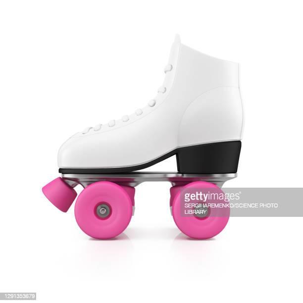 roller skate, illustration - leisure activity stock illustrations