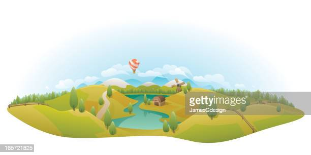 Rolling Countryside Landscape