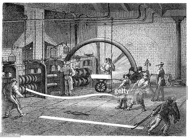 rolling mill - metalworking - molten stock illustrations, clip art, cartoons, & icons